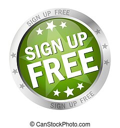 Round button Sign up free