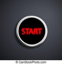 Round button start.