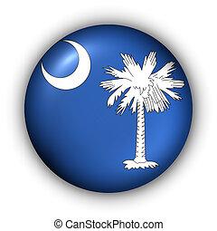 Round Button USA State Flag of South Carolina - USA States ...