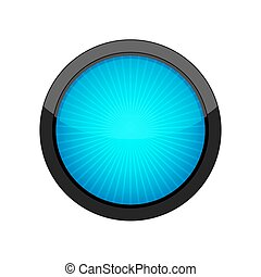 Round button. Vector illustration.