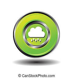 Round button weather icon - Bubble