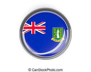 Round button with flag of british virgin islands