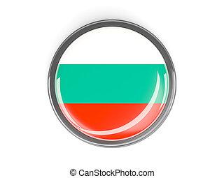 Round button with flag of bulgaria