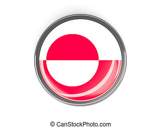 Round button with flag of greenland