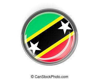Round button with flag of saint kitts and nevis