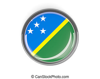 Round button with flag of solomon islands