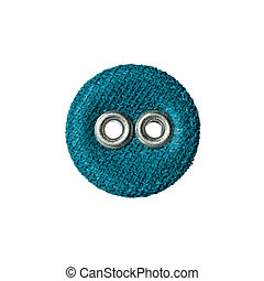 round button with two holes made of fabric