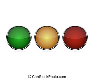 Round buttons. Vector illustration.
