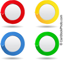 Round buttons with arrow
