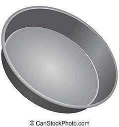 Round Cake Pan - Round pan for baking cakes. Vector...