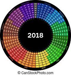 Round calendar 2018