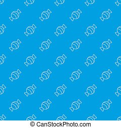 Round candy pattern seamless blue