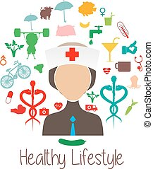 round card with healthy lifestyle