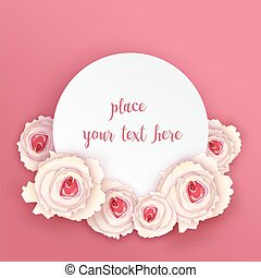round card with roses