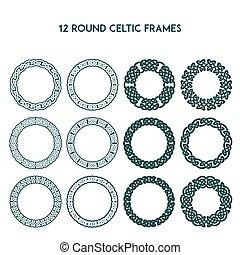 Round Celtic Frames