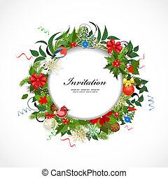 Round Christmas frame for your design