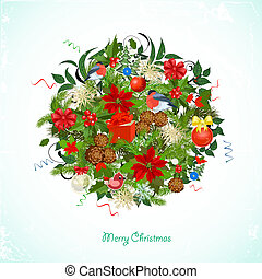 Round Christmas ornament for your design