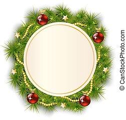 round Christmas wreath