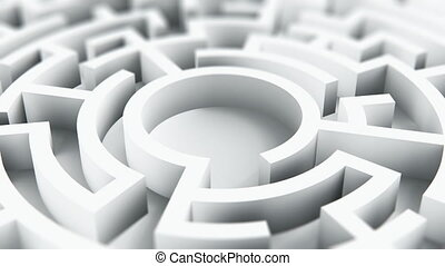Round circle labyrinth maze - Creative abstract success,...