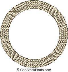 Round circle rope border
