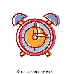 round clock alarm object design