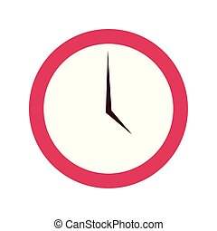 round clock on white background