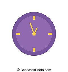 round clock time office flat icon design
