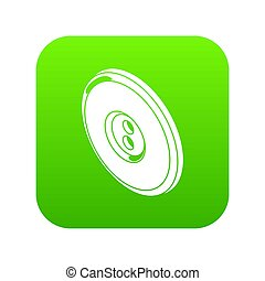 Round clothes button icon green