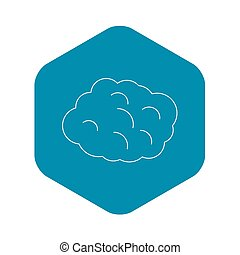 Round cloud icon, outline style