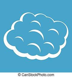 Round cloud icon white