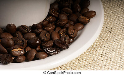 round coffee beans