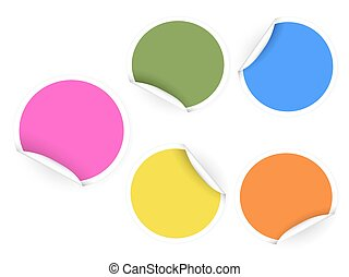 round color stickers