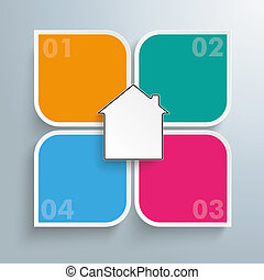 Round Colored Quadrates Template 4 Options House Centre