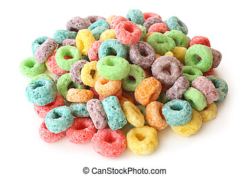 Round colorful cereal