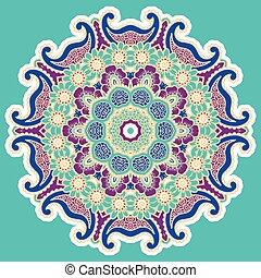 Round colorful mandala.