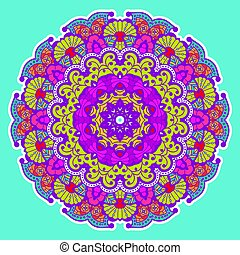 Round colorful mandala.