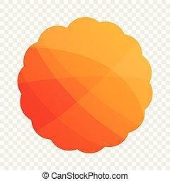 Round cookies icon, cartoon style