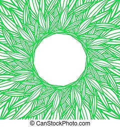 Round copyspace frame with palm leaves