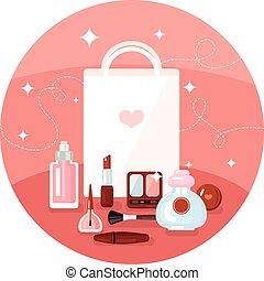 Round Cosmetics Concept