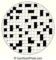 Round Crossword Circular Shape Empty Pattern