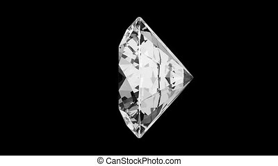 Round cut diamond with alpha channel (seamless)