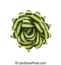 Round decorational bow isolated