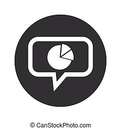 Round diagram dialog icon