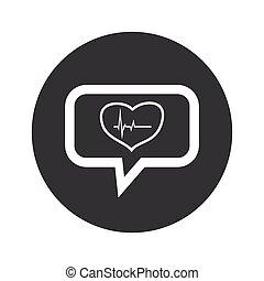 Round dialog cardiology icon
