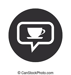Round dialog cup icon