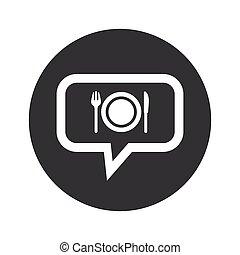 Round dialog dinner icon