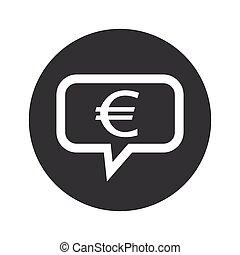 Round dialog euro icon