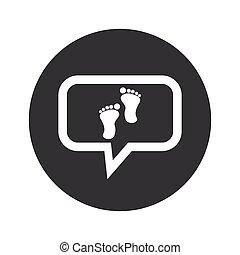 Round dialog footprint icon
