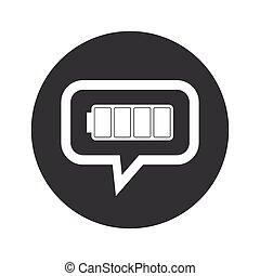 Round dialog full battery icon