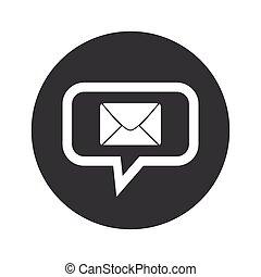 Round dialog letter icon